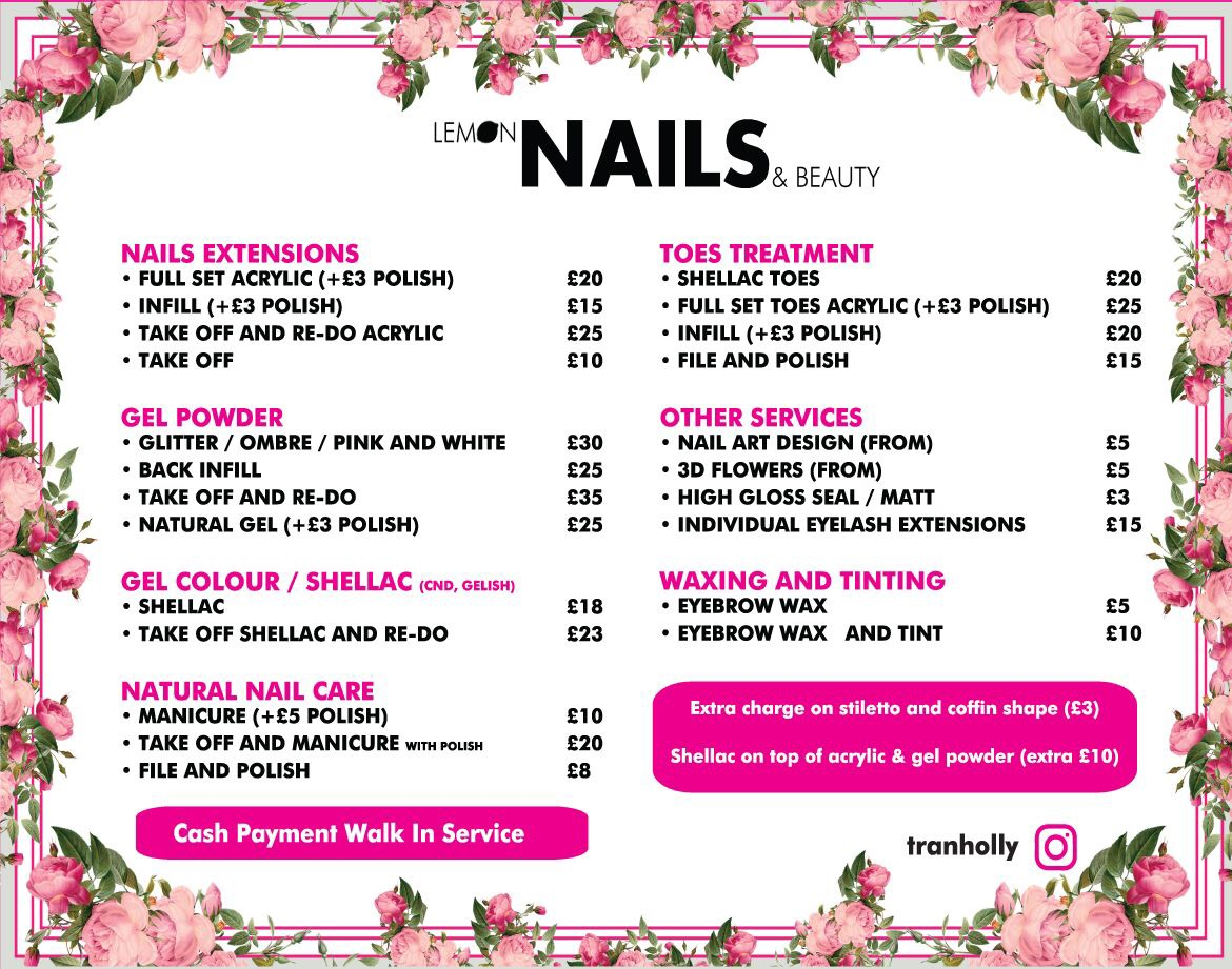 Lemon Nails & Beauty at Lime Square - Retail shopping at Lime ...